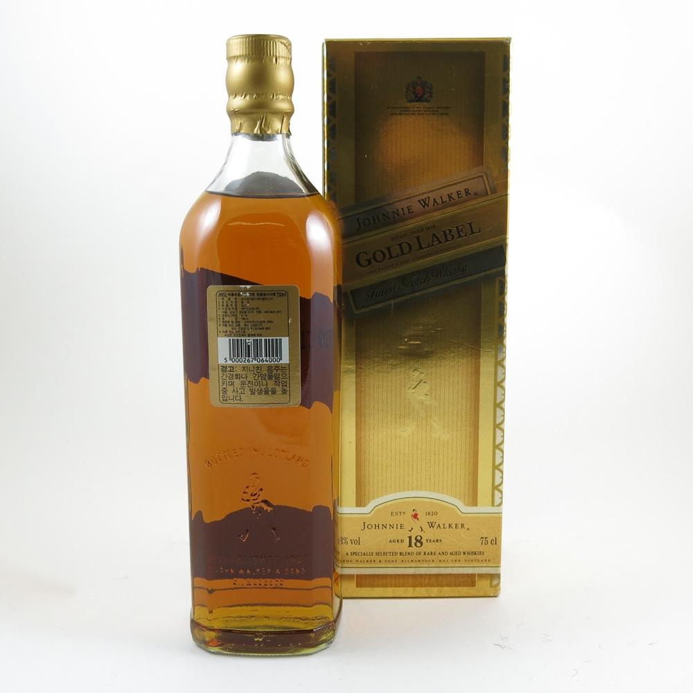 Johnnie Walker Gold label 18 Year Old Back