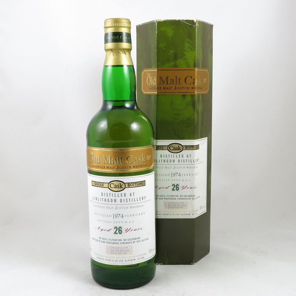 Linlithgow 1974 Old Malt Cask 26 Year Old Front