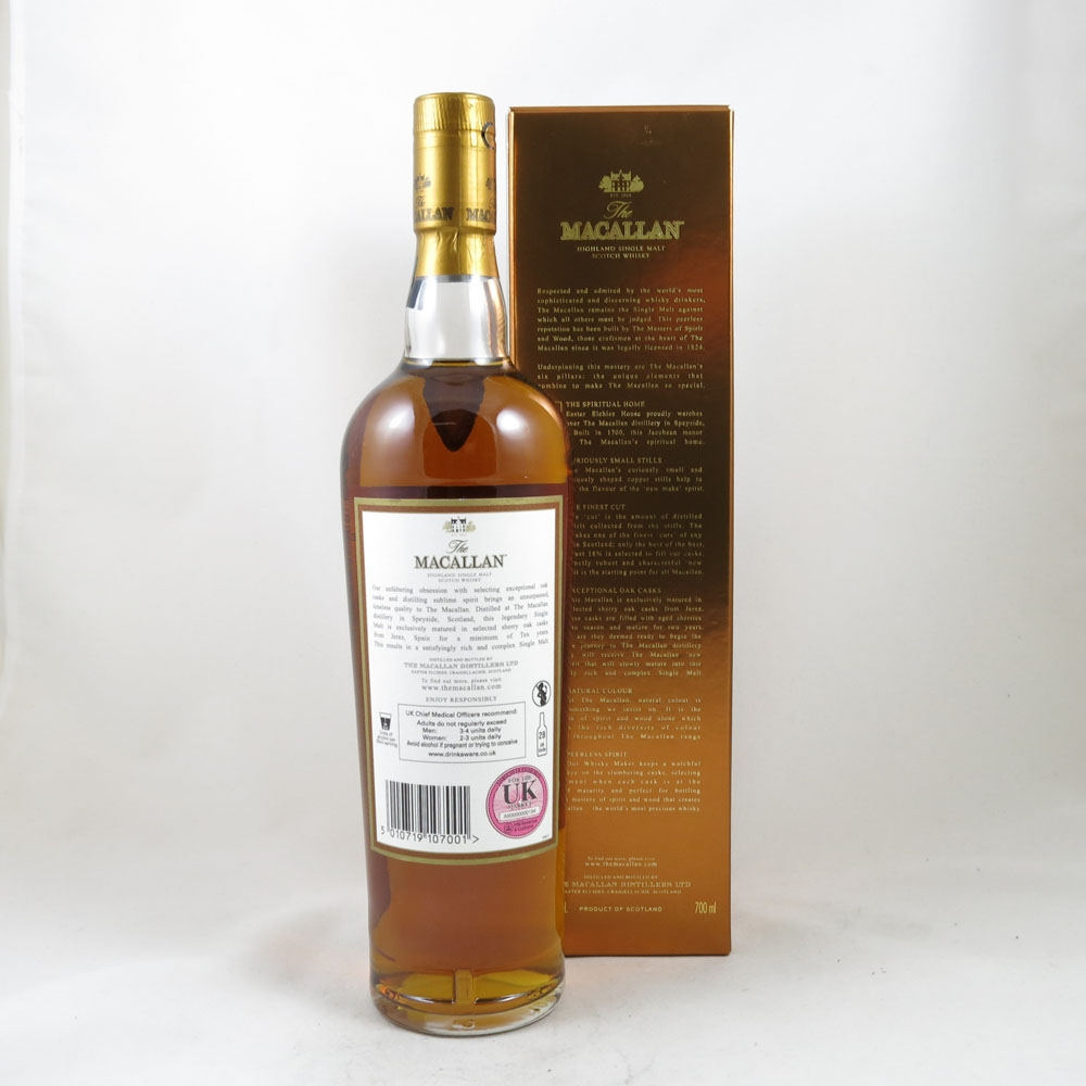 Macallan 10 Year Old back