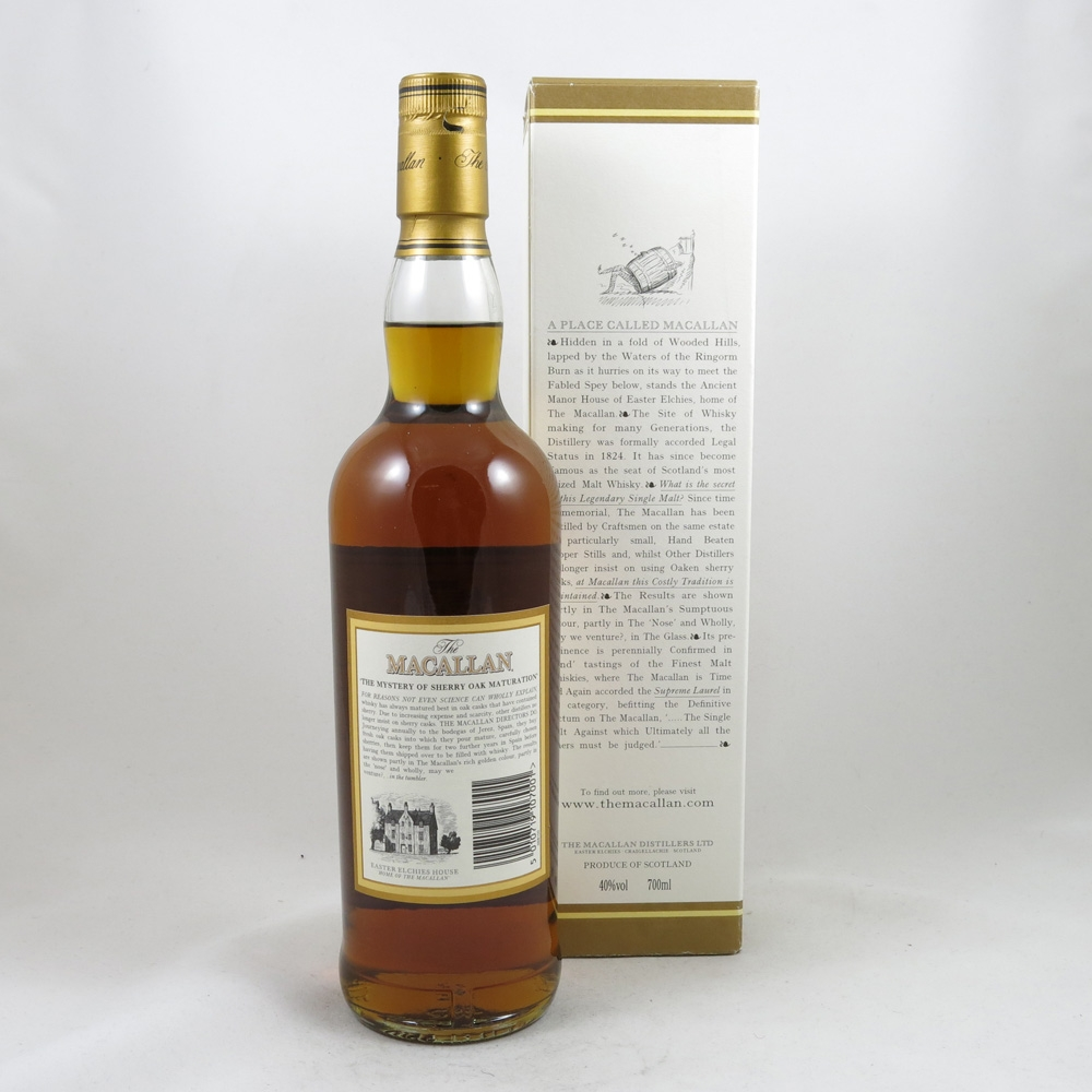 Macallan 10 Year Old 1990s back