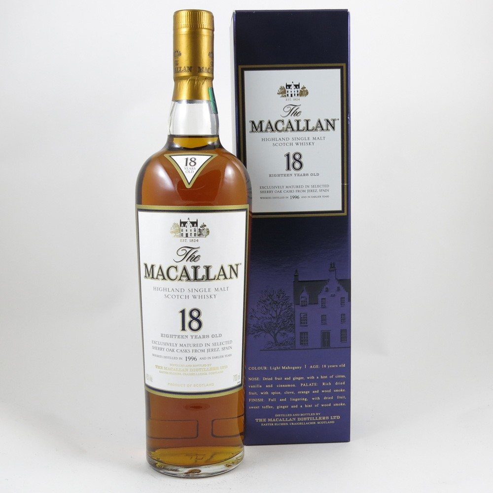 Macallan 1996 18 Year Old front
