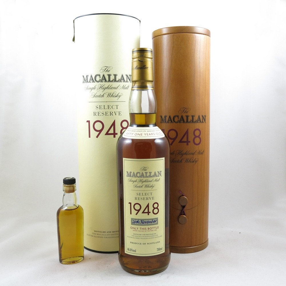 Macallan 1948 Select Reserve 51 Year Old (Including Miniature) front
