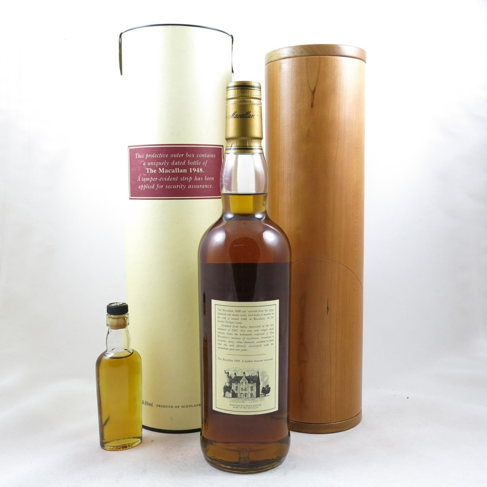 Macallan 1948 Select Reserve 51 Year Old (Including Miniature) back