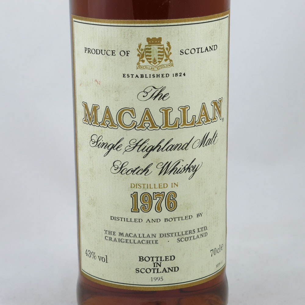 Macallan 1976 18 Year Old Label