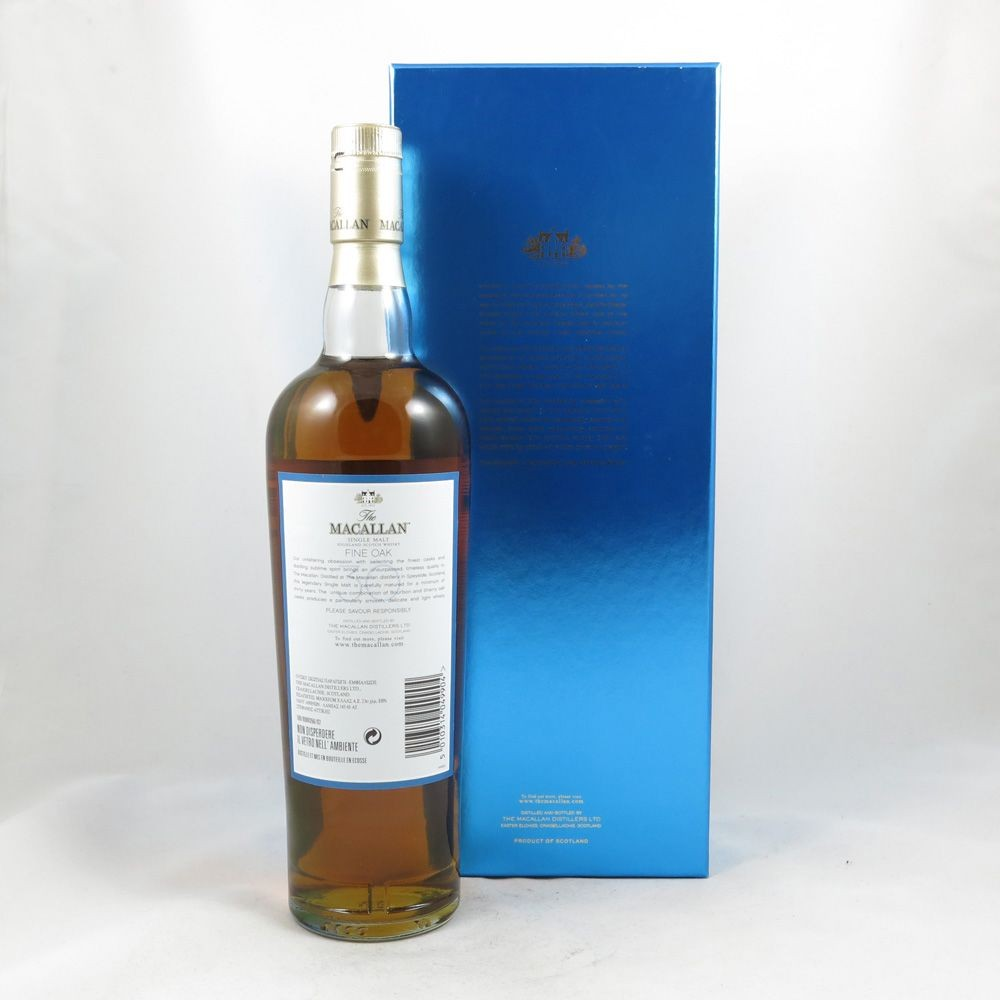 Macallan 30 Year Old Fine Oak back