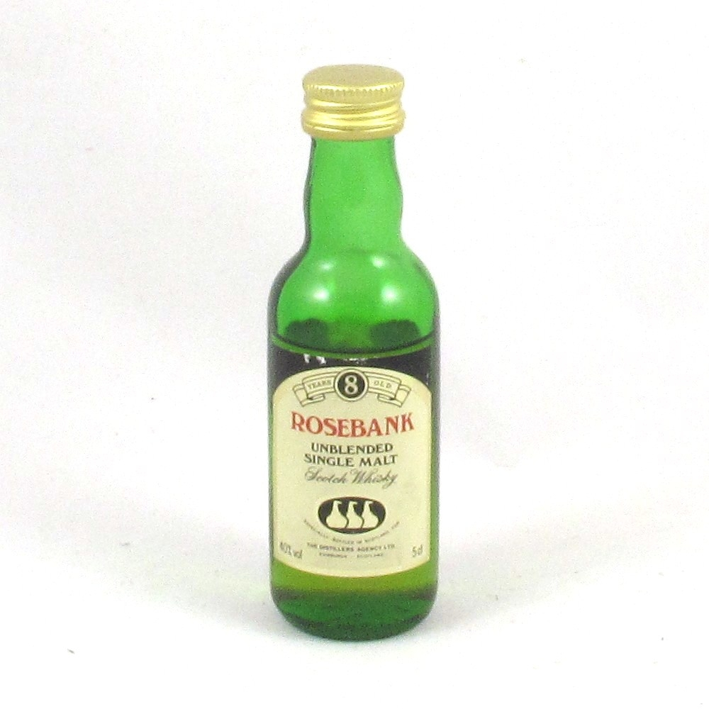Rosebank 8 Year Old 5cl Miniature Front