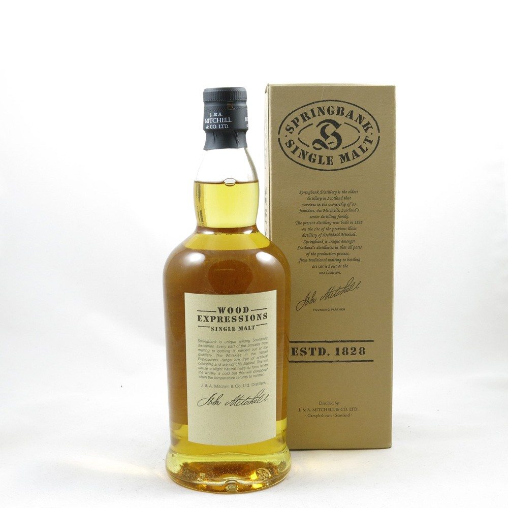 Springbank 1989 12 Year Old Rum Wood back