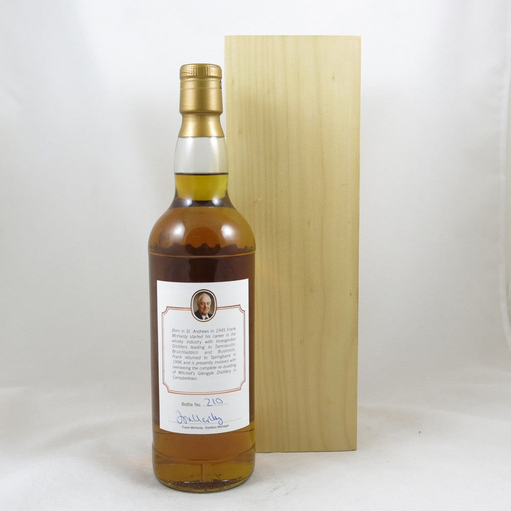 Springbank 25 Year Old Frank McHardy 40 Years in Distilling back