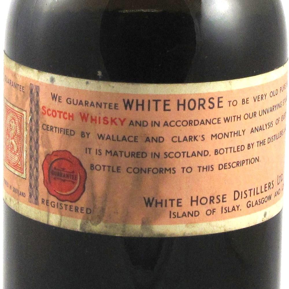 White Horse Bottled 1959 Label 1