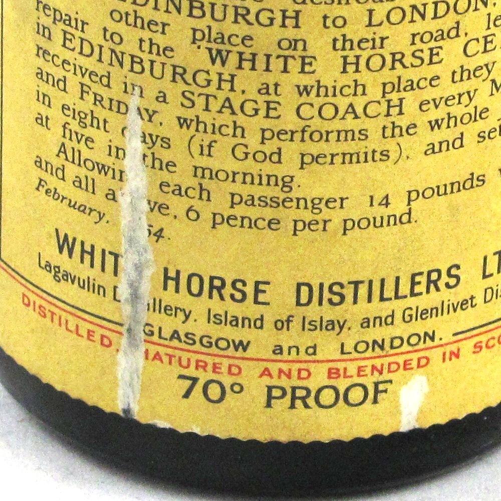 White Horse Bottled 1959 Label 2
