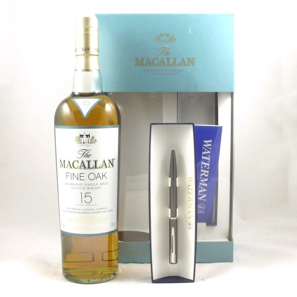 Macallan 15 Year Old Fine Oak Gift Pack Front