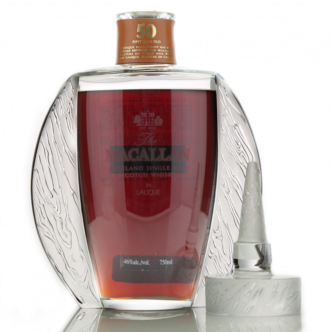 Macallan 50 Year Old Lalique Six Pillars Collection 75cl / US Import