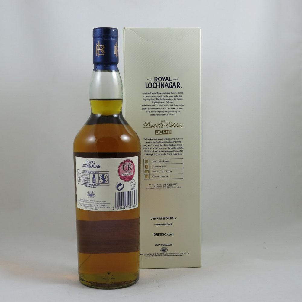 Royal Lochnagar 2000 Distillers Edition 2013 back